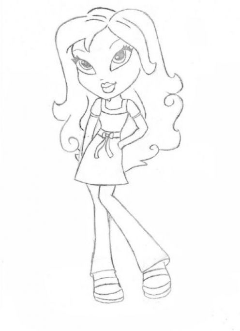 flower coloring pages for girls. Bratz Coloring Pages 1