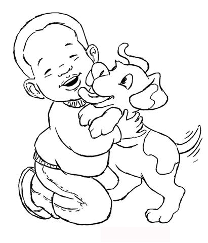 Child Coloring Pages 1