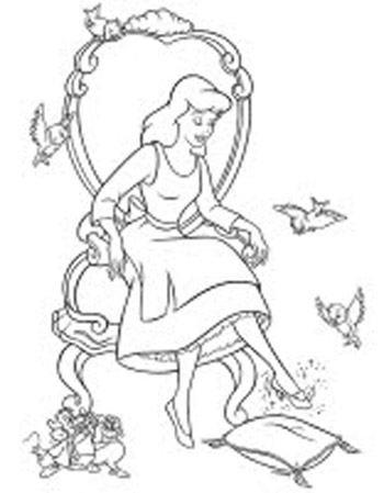 Cinderella New Coloring Pages 15