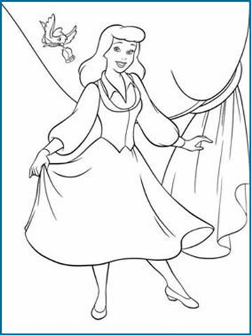 Cinderella New Coloring Pages 16
