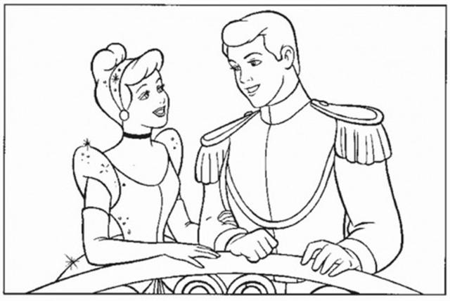 Cinderella New Coloring Pages 18