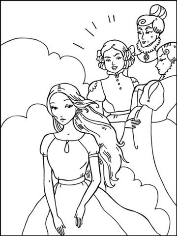 Cinderella New Coloring Pages 19