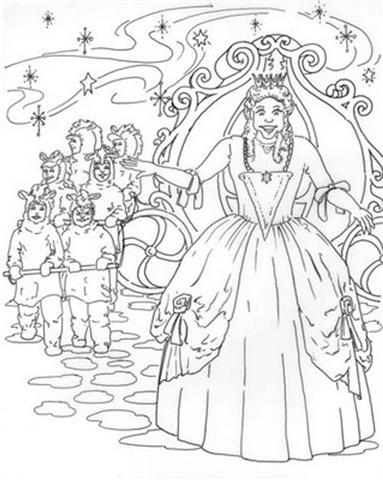 Cinderella New Coloring Pages 20