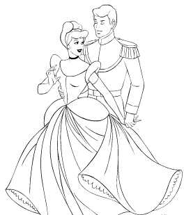 Cinderella New Coloring Pages 24