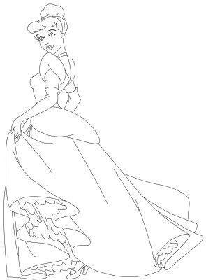 Cinderella New Coloring Pages 35