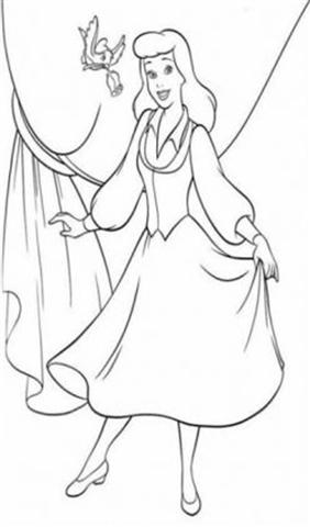 Cinderella New Coloring Pages 5