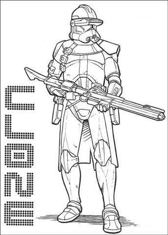 Clone Wars Coloring Pages 8