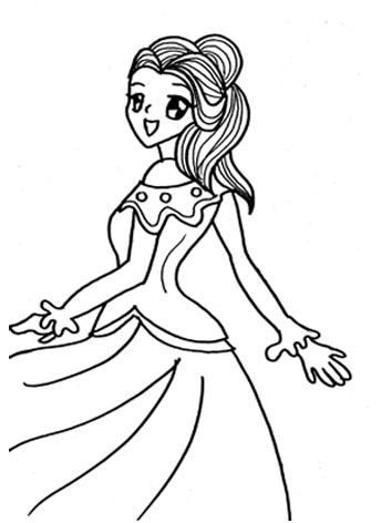 Dancing Princess Coloring Pages 11