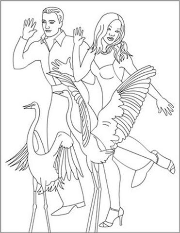 Dancing Princess Coloring Pages 4