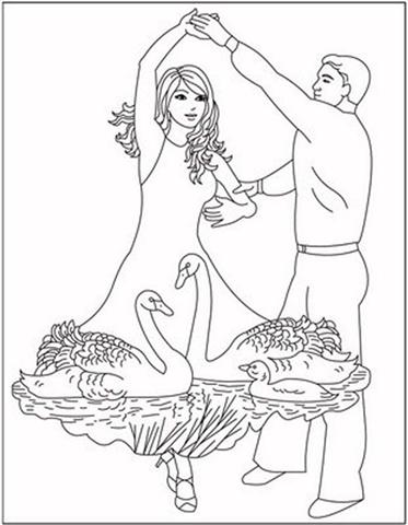 Dancing Princess Coloring Pages 10
