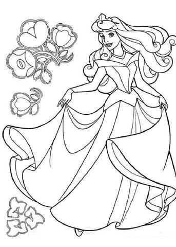 Dancing Princess Coloring Pages 1