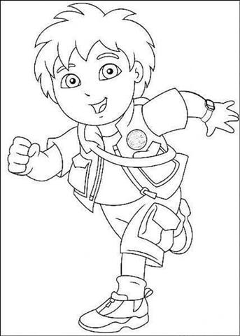 Go Diego Coloring Pages 1