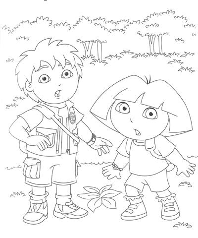 Go Diego Coloring Pages 2