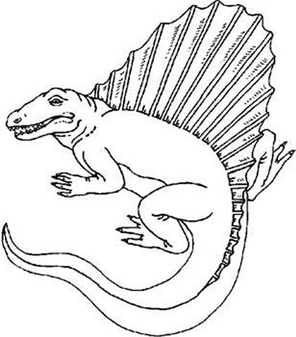 Dinosaur Coloring Pages 7