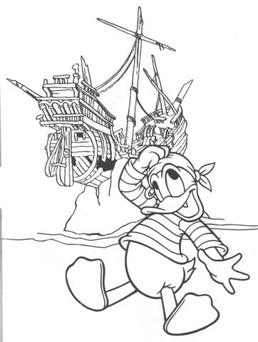 Donal Duck Coloring Pages 8