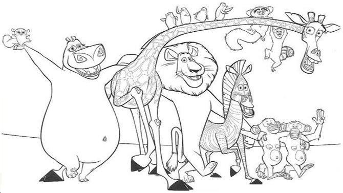 Madagascar Coloring Pages 1