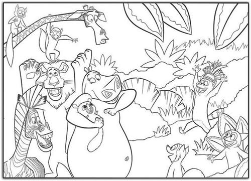 Madagascar Coloring Pages 10