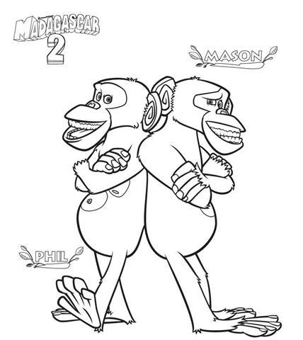 Madagascar Coloring Pages 14