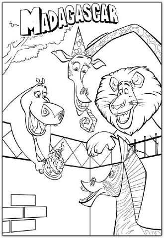 Madagascar Coloring Pages 18
