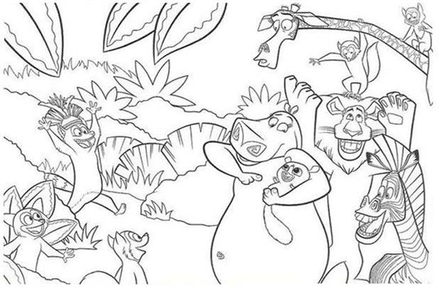 Madagascar Coloring Pages 2