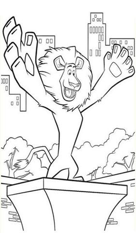 Madagascar Coloring Pages 3