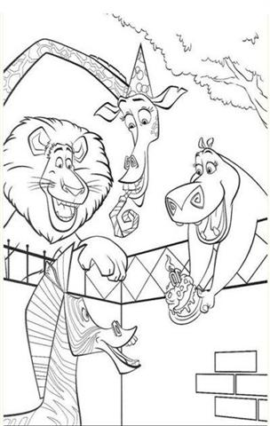 Madagascar Coloring Pages 4