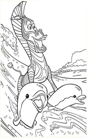 Madagascar Coloring Pages 5
