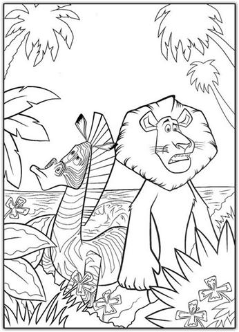 Madagascar Coloring Pages 8