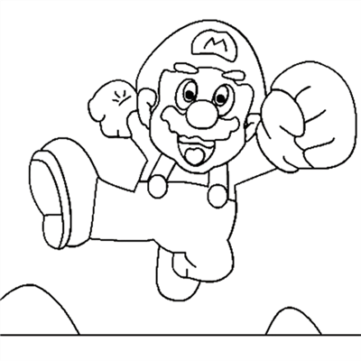 Super Mario Coloring Pages 10