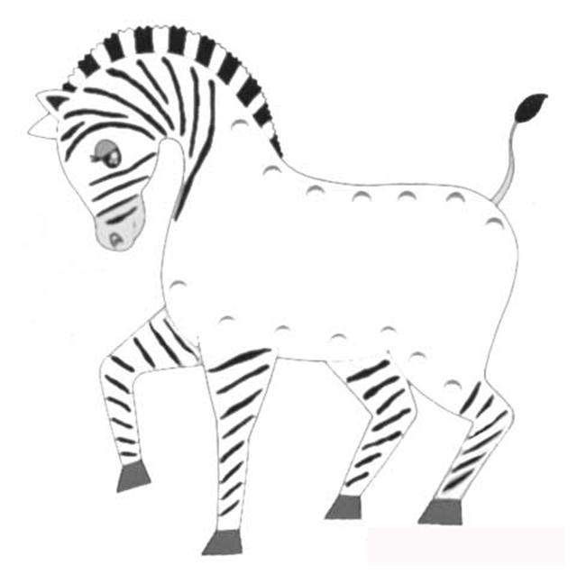 Zebra Coloring Pages 1