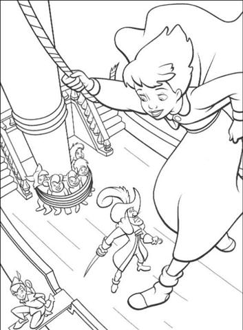 Peterpan in Return to Neverland Coloring Pages 1