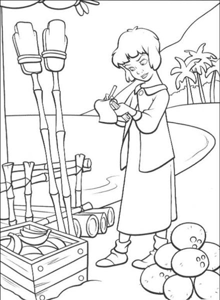 Peterpan in Return to Neverland Coloring Pages 8