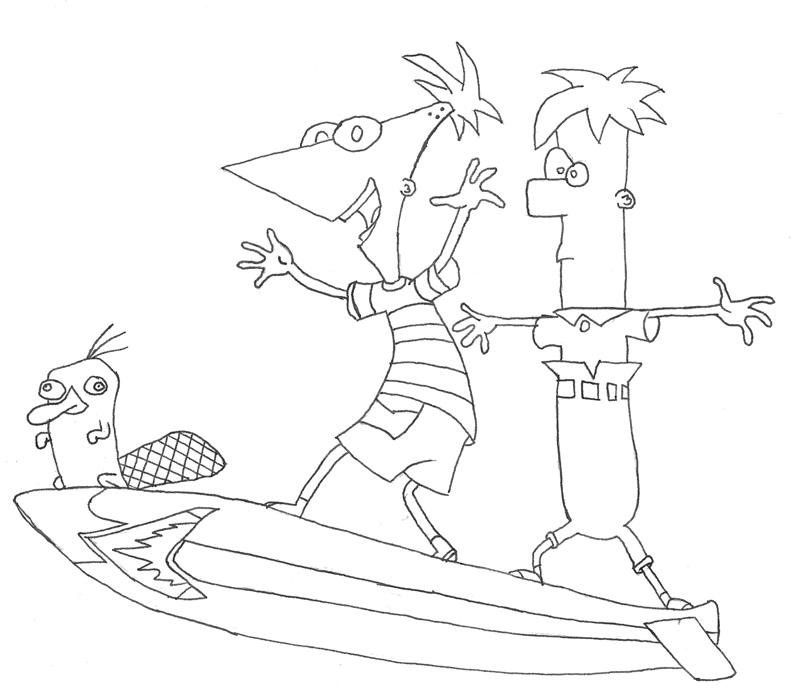 Phineas and Ferb Coloring Pages 8