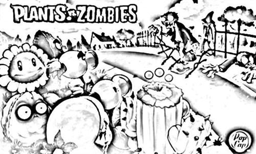 Plants VS Zombies Coloring Pages 1