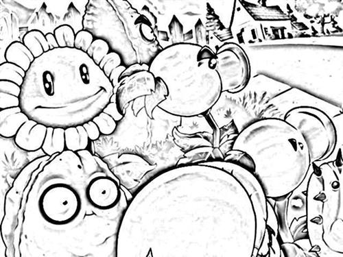 Plants VS Zombies Coloring Pages 2