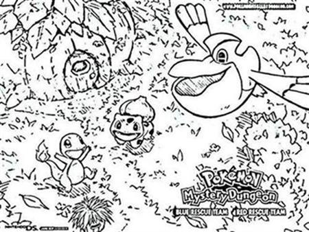 Pokemon Dungeon Coloring Pages 1