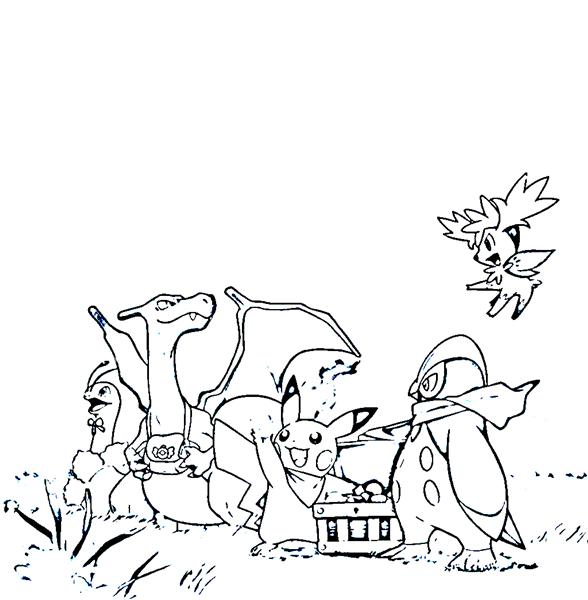 Pokemon Dungeon Coloring Pages 2