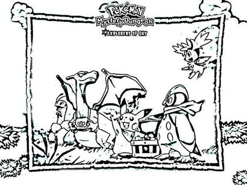 Pokemon Dungeon Coloring Pages 7