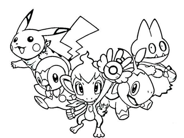 Pokemon Mystery Dungeon Coloring Pages 12