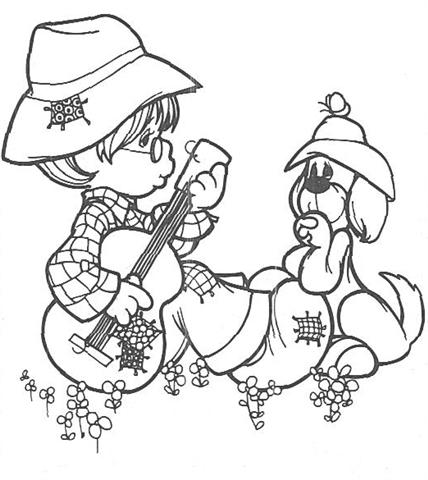 Precious Moments Coloring Pages 2