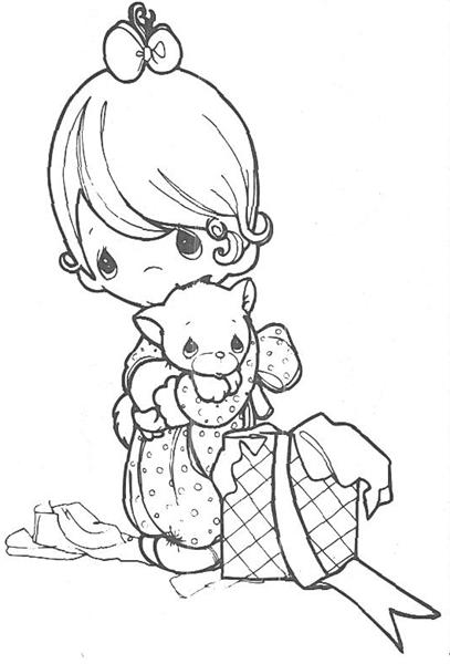 Precious Moments Coloring Pages 4