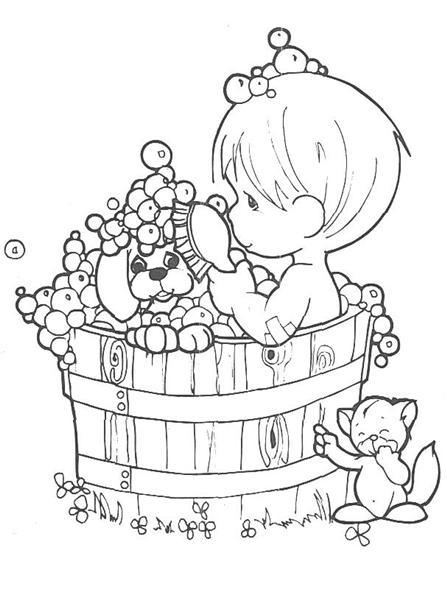 Precious Moments Coloring Pages 6