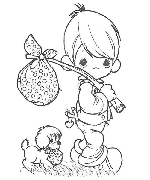 Precious Moments Coloring Pages 7