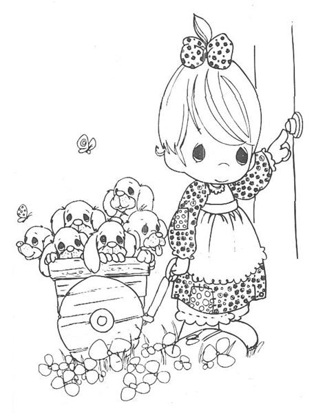 Precious Moments Coloring Pages 9