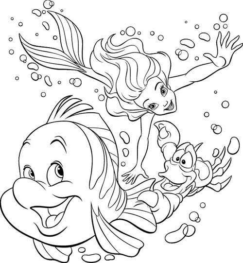 Princess Ariel Coloring Pages 1