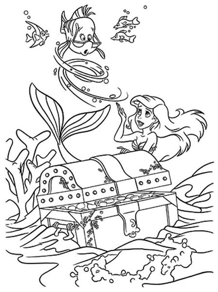 Princess Ariel Coloring Pages 10