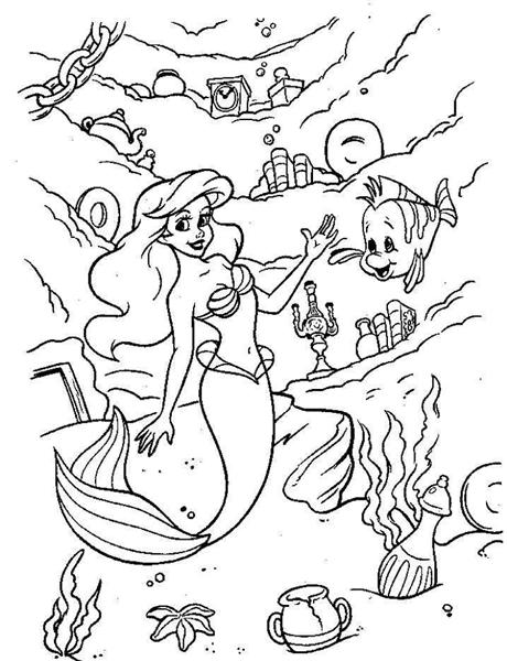 Princess Ariel Coloring Pages 12