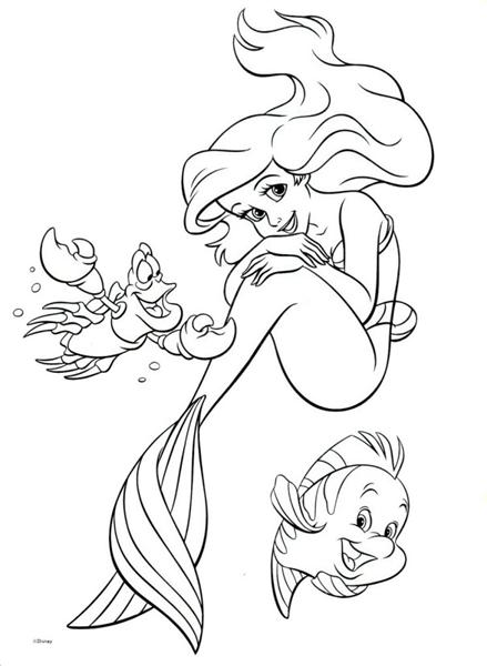 princess ariel coloring pages