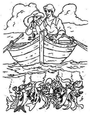 Princess Ariel Coloring Pages 6