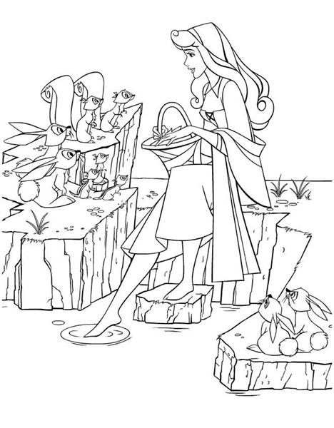 Princess Aurora Coloring Pages 1